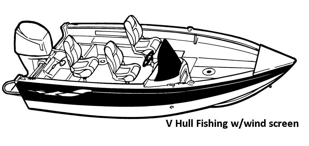 V-Hull Fishing w/ wind screen